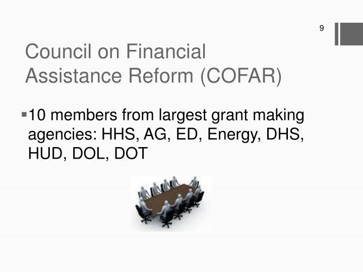 Council on Financial Assistance Reform (COFAR)