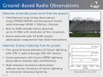 ground based radio observations