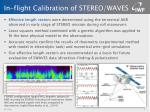 in flight calibration of stereo waves