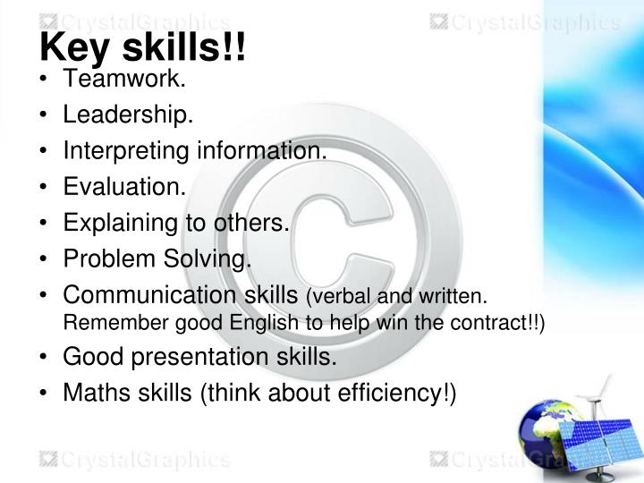 Key skills!!