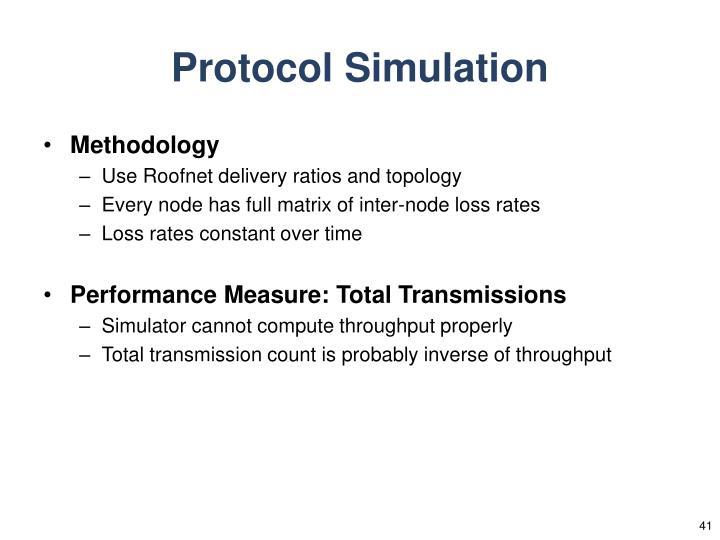 Protocol Simulation