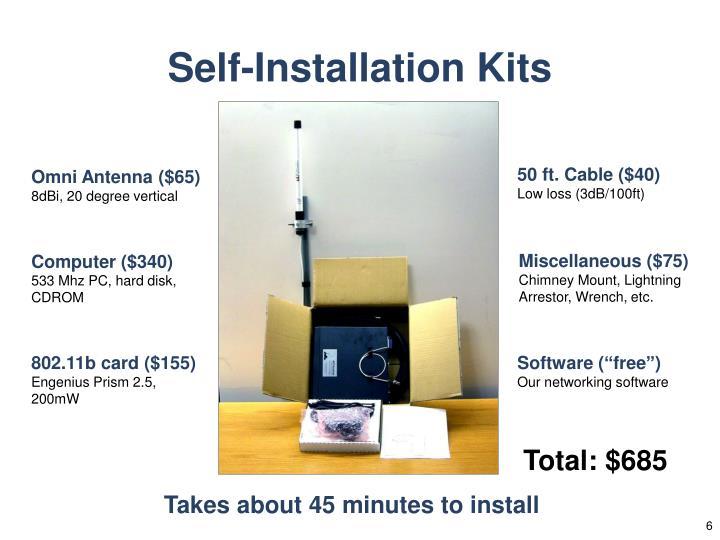 Self-Installation Kits
