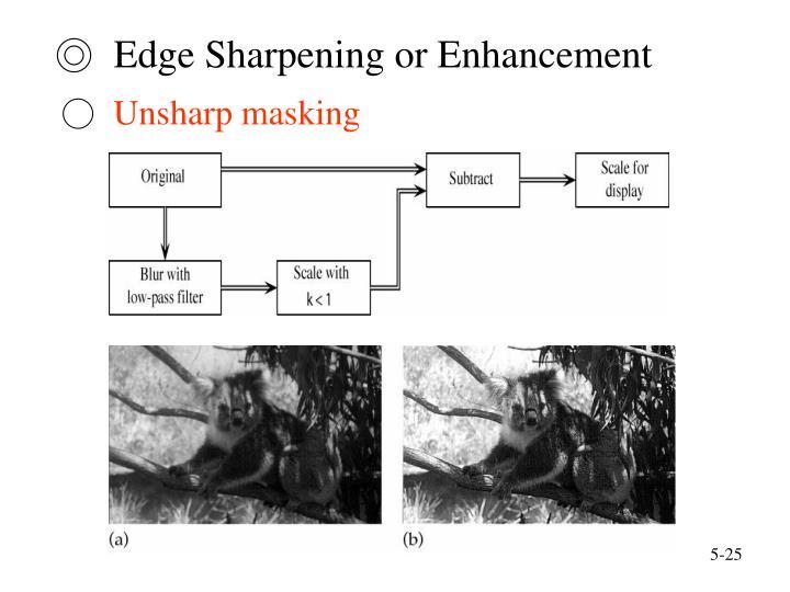 ◎  Edge Sharpening or Enhancement