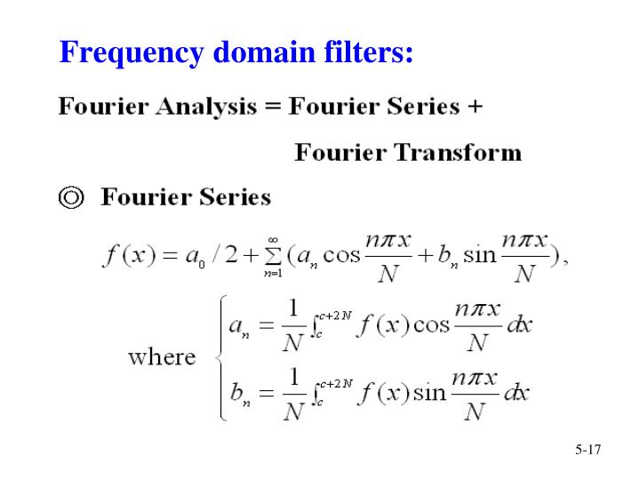 Frequency domain filters: