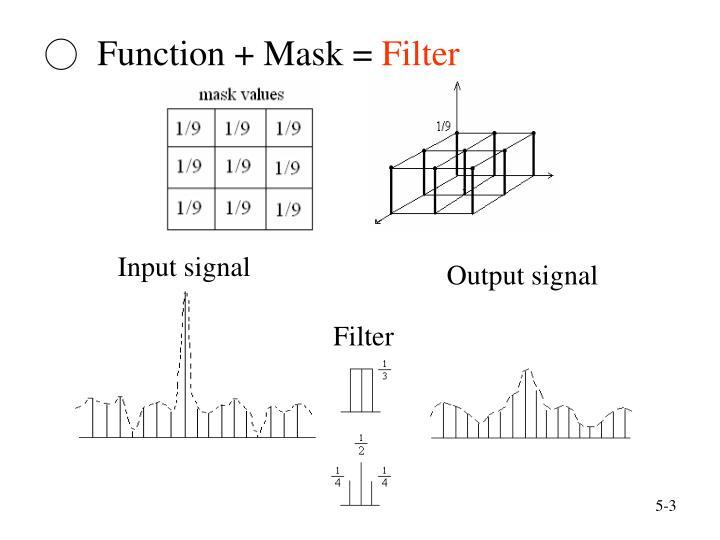 Function mask filter