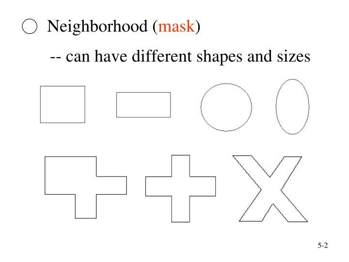 Neighborhood mask