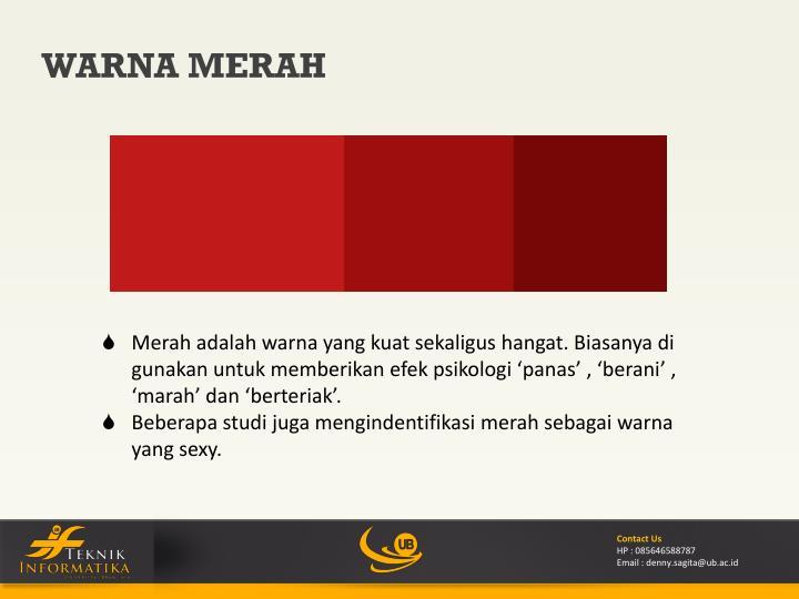 WARNA MERAH