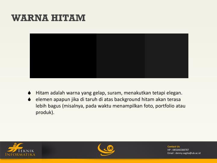 WARNA HITAM