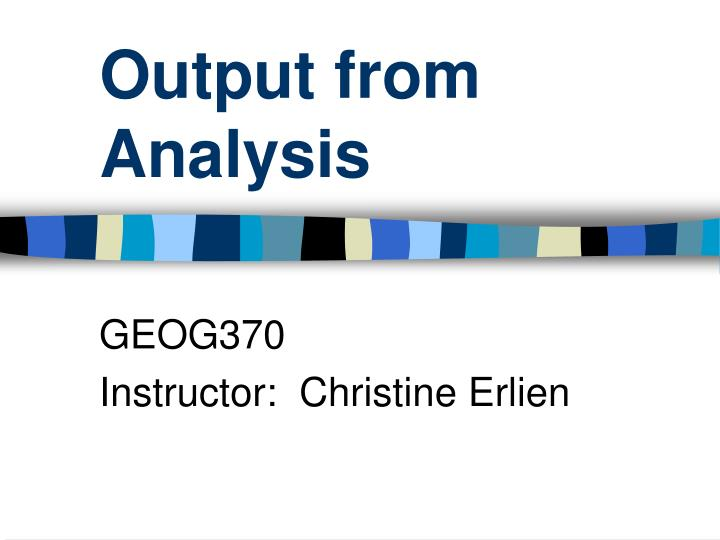 output from analysis n.