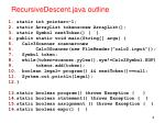 recursivedescent java outline