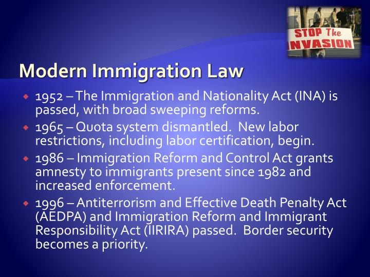 Modern Immigration Law