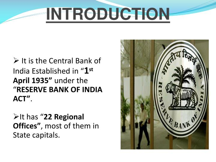 establishment of central bank of india