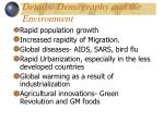 details demography and the environment
