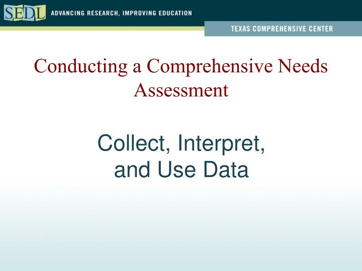 collect interpret and use data n.