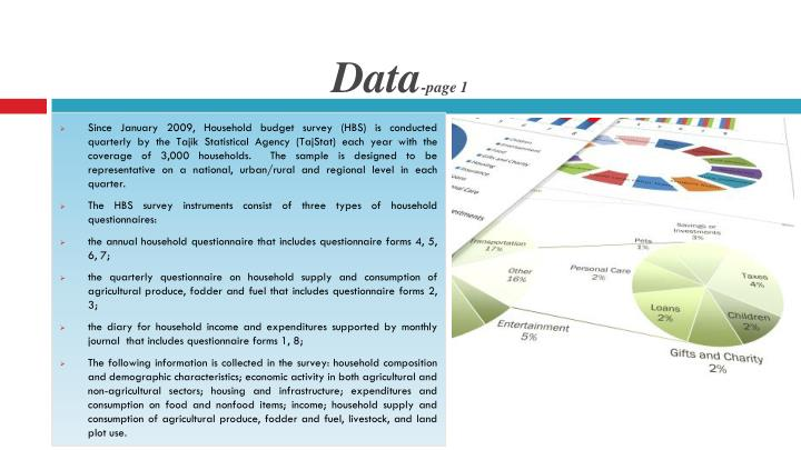 Data page 1