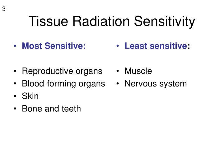 Tissue radiation sensitivity