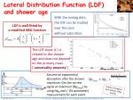 lateral distribution function ldf and shower age