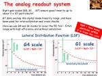 t he analog readout system