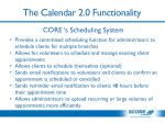 the calendar 2 0 functionality