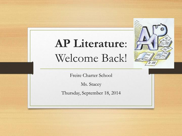 ap literature welcome back