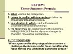 review theme statement formula