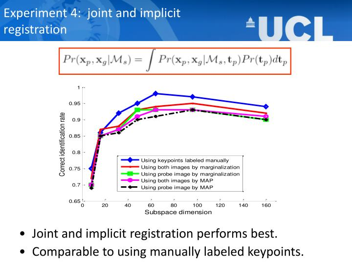 Experiment 4:  joint and implicit
