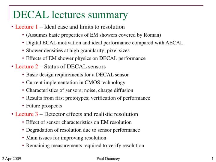 decal lectures summary n.