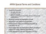 arra special terms and conditions