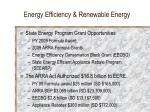energy efficiency renewable energy