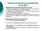 pasos previos para la aprobaci n de la acs2
