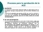procesos para la aprobaci n de la acs