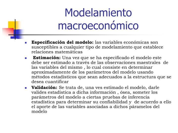 Modelamiento macroeconómico