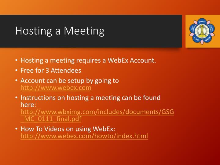 Hosting a Meeting