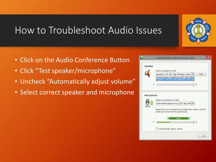 How to Troubleshoot Audio Issues