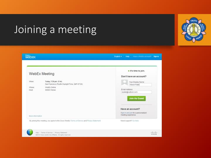 Joining a meeting