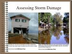 assessing storm damage