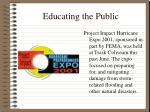 educating the public