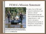 fema s mission statement