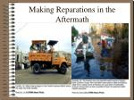 making reparations in the aftermath