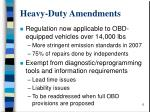 heavy duty amendments