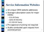 service information websites