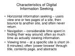 characteristics of digital information seeking