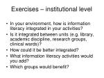 exercises institutional level