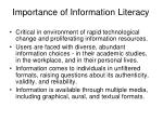 importance of information literacy