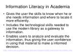 information literacy in academia