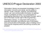 unesco prague declaration 2003