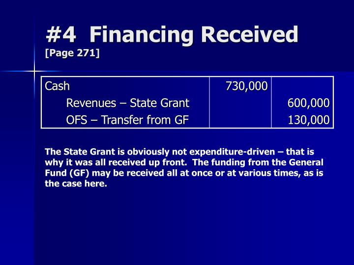 #4  Financing Received