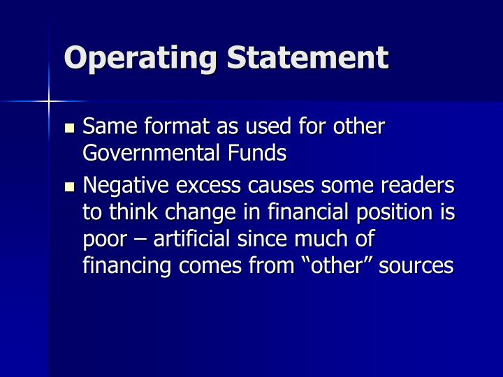 Operating Statement