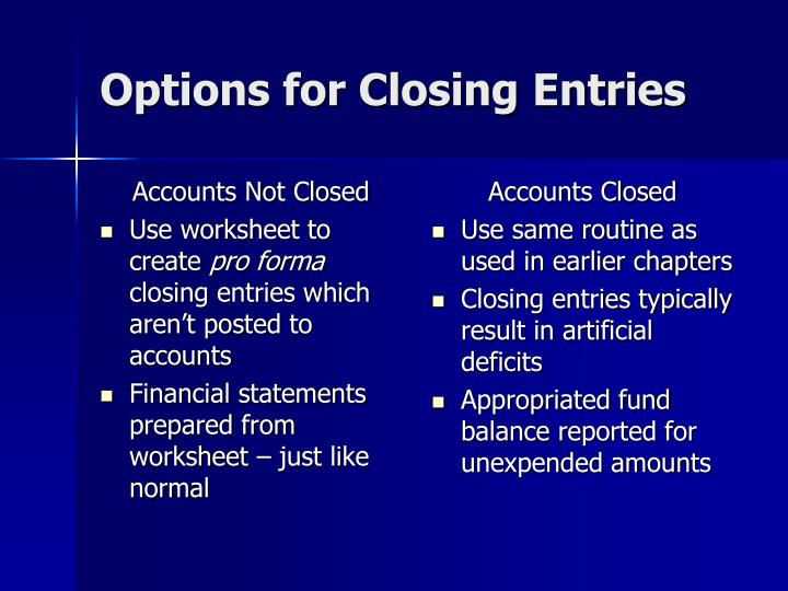 Accounts Not Closed
