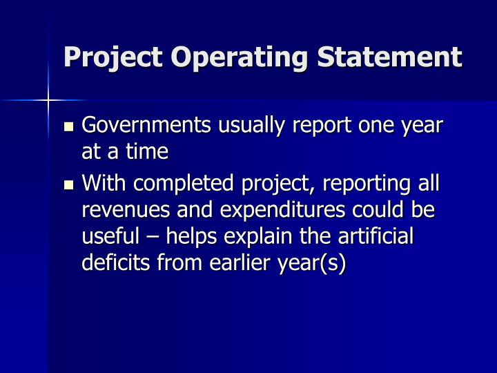 Project Operating Statement